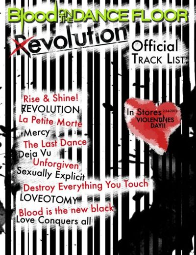 darkdreamshauntme:  |R|EVOLUTION Blood On The Dance Floor Tracklist Coming 2.14.12