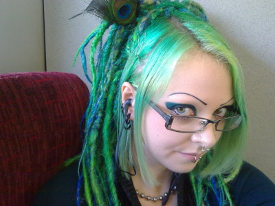 riodinidae:  Hmm… Should I get a fringe cut again?  (Dreads by Pink Pirate Hair)