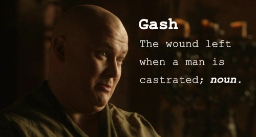 Word of the Day: Gash.