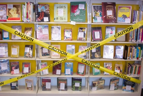 A danger to society? In honor of banned book week , here are a few popular books that made the list of the American Library Association's Top 100 Banned/Challenged Books: 2000-2009.  (Yup, Harry Potter, Toni Morrison, Judy Blume and Harper Lee make appearances) (PHOTO: LANSING PUBLIC LIBRARY VIA FLICKR)
