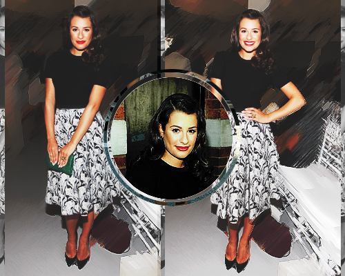 Lea Michele at Jason Wu Spring 2012