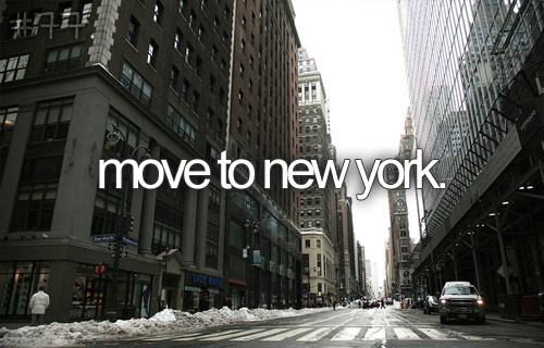 I would love to live in New York :)