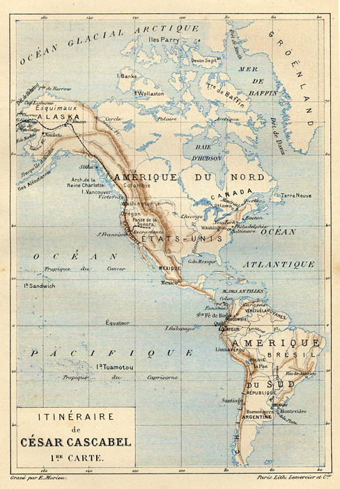 North and South America, circa 1890. View bigger.