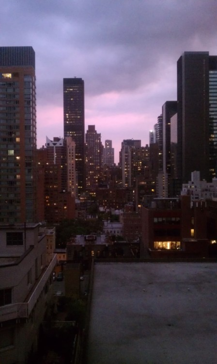 mmccitylights:  The view from my dorm room at 55th. Every time I look out my window I remember all over again what an amazing opportunity I've been afforded. ~Grateful in NYC Brittany
