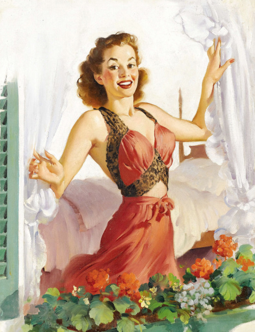 judywald:  Morning Glory Gil Elvgren (ondiraiduveau; flickr)
