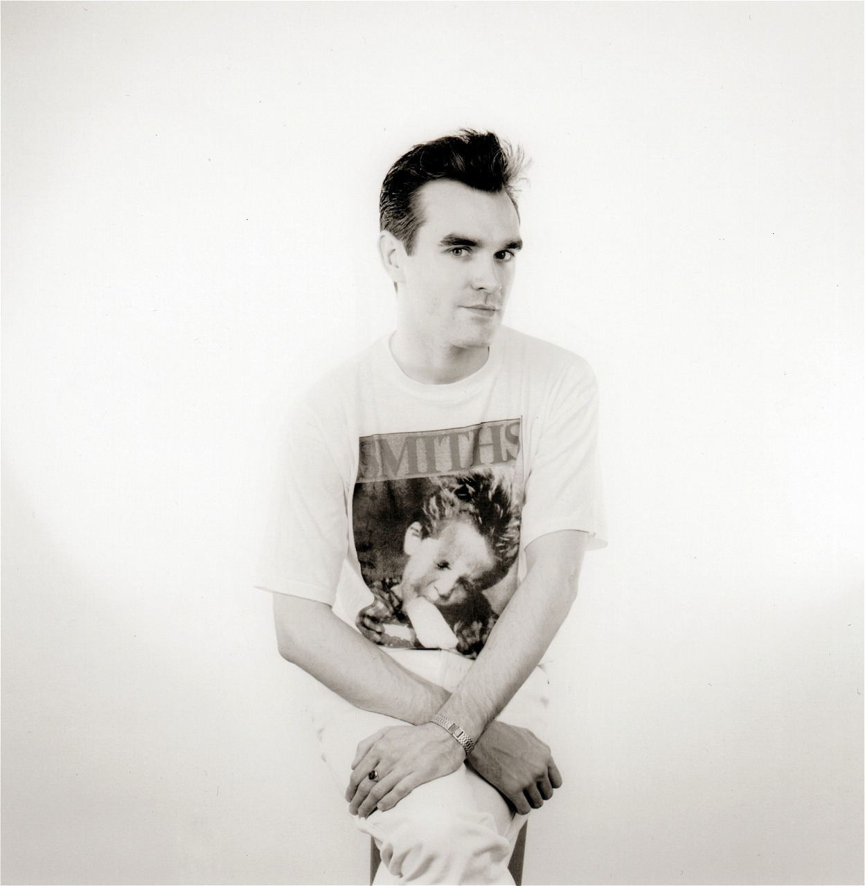 thischarmlessgirl:  Morrissey photographed by Gemma Levine in Cleveland, 1986. Bigger scan here too for those who want it. :)