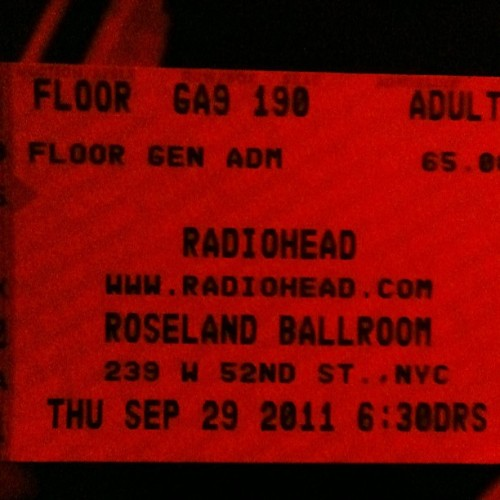Yes, I got super lucky on Ticketmaster (Taken with instagram)