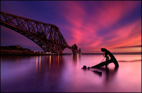 Forth Rail Bridge @ Sunset - Scotland by angus clyne on Flickr.