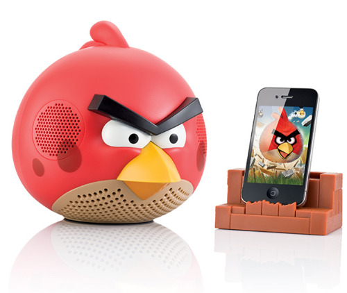 crunkaintdead:  Angry Bird iPhone dock and speaker