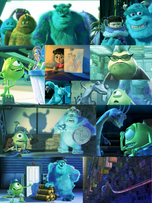 Jen and Molly's 30 day Disney challenge  Day 03: Favorite Pixar Film  Monsters Inc. (2001) Runner up: The Incredibles, Finding Nemo   making up for the day that i lost lol I do really love this movie. I also love that the VHS tape was blue. lolol