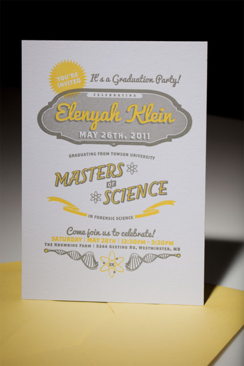 Elenyah Klein Graduation Party Invitation