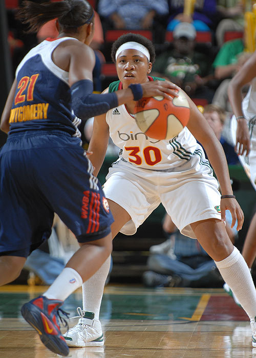 fuckyeahseattlestorm:  Props to T Wright for been chosen as part of the 2011 WNBA All-Defensive First Team. Storm Forward Swin Cash is part of the Second Team. Terrence Vaccaro/NBAE/Getty Images