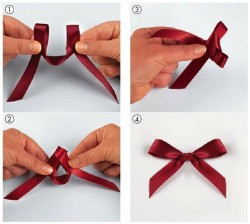 (via DIY and stuff like that / Tie the perfect bow - finally! The secret is out. So simple!)
