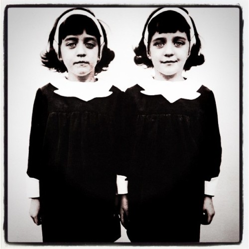 Diane Arbus - Identical Twins, Roselle, New Jersey, 1967. Modified using instagram. View original version here.