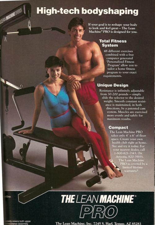Lean Machine. Playboy, December, 1985.