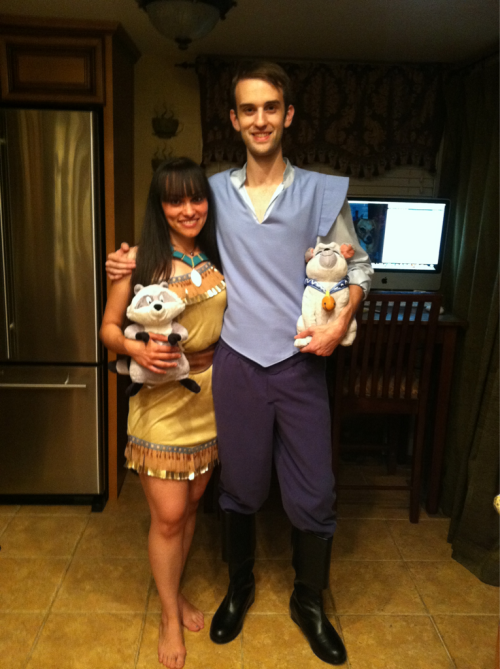 the-disney-difference:  Our Pocahontas and John Smith costumes for Mickey's Not So Scary Halloween Party!!!  AH OMG. They turned out sooooo good!
