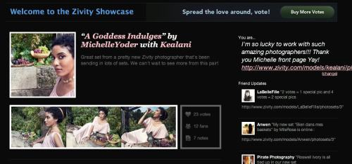 Showcased on Zivity's home page!! :D Yay!!  http://www.zivity.com/models/kealani/photosets/19