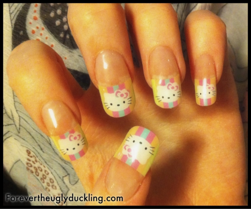 marinalaplacenta:  My new Hello Kitty acrylic nails done by Deborah @ I Love Nails