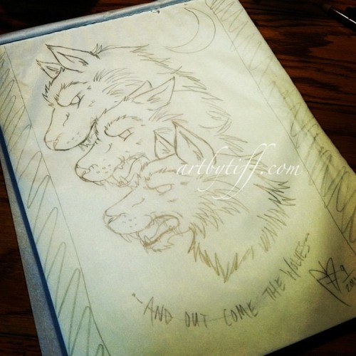 Little more thought out…. #wolf #sketch  (Taken with instagram)