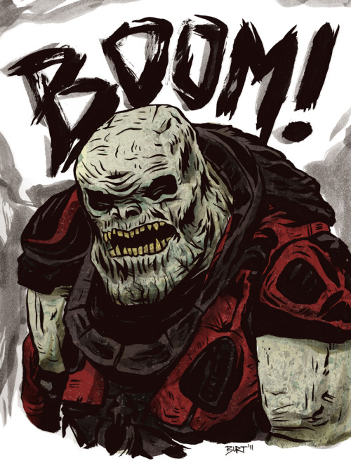 drawedgoods:  Sketch of a Boomer from #Gears3, by Epic Games! -burt