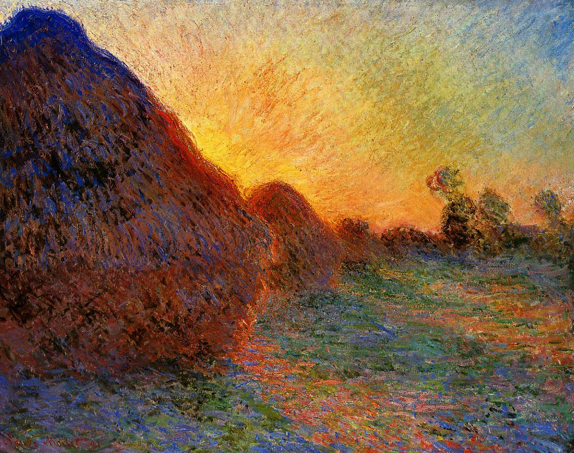 "cositasdecolores:    ""Damn!"" Said Monet, or Something Like It: Then He Drove His Fist Through a ""Genuine Claude Monet"" Which He Had Painted Before He Learned How Printed in ARTnews magazine on October 15, 1921 PARIS - The great impressionist patriarch, Claude Monet, has just been giving artists and speculators a lesson. A short time back a dealer visited the master at his country home with a picture under his arm painted by Monet in the far-off days when he was under the influence of Courbet. he wanted M. Monet's own identification of the work. The latter examined it carefully and then, with an oath, drove his fists through it.  ""It is by me, all right,"" he said, ""but I did it at a time when I knew nothing."" The dealer, disturbed, cried: ""I paid a lot of money for it - at least for the signature."" ""Perhaps you would be very good as to exchange it for another? The venerable man pointed to his walls. ""Choose,"" said he, indifferently, and so the dealer did. When he had left with his prize under his arm a friend, who had attended the interview, said to Claude Monet: ""But that is what the man was after all the time. Why did you pay into his hand?"" To which Monet retorted: ""I quite saw that. But the chief thing is to keep the pictures which are not worthy of me out of the market, I should like to be wealthy enough to buy all my inferior work and to destroy it afterwards.""  Of such stuff are made the true artists."