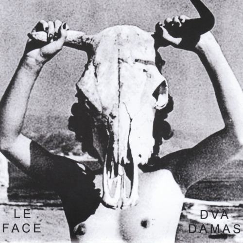 "Le Face / Dva Damas – Split 7"" EP  Psychic Handshake Records (2011) Montreal's  Psychic Handshake Records releases another winner here with this split  7"" between two LA bands - Le Face and Dva Damas. I'm already familiar  with Le Face, have most of their records (etc), however they are a band  I've liked but never really loved. The Le Face side of this split is as  chaotic and broody as anything they've released, and I actually think I  prefer my Le Face in the 7"" format, pretty much the exact amount for me.  The gloomy minimalism of Dva Damas on the flip got me very excited,  especially ""Man Skin Pants. "" Everything on this single is good, but that song alone is good enough to track this  single down for."