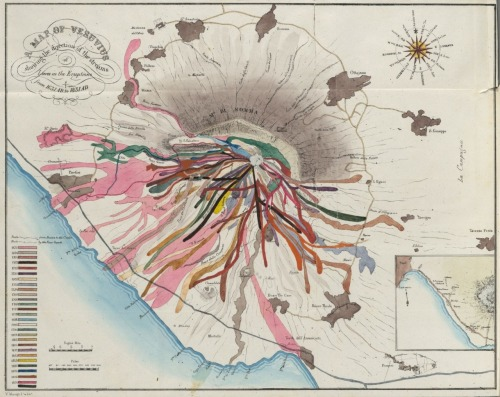 mypantsareonfire:  lava map of vesuvius 1832
