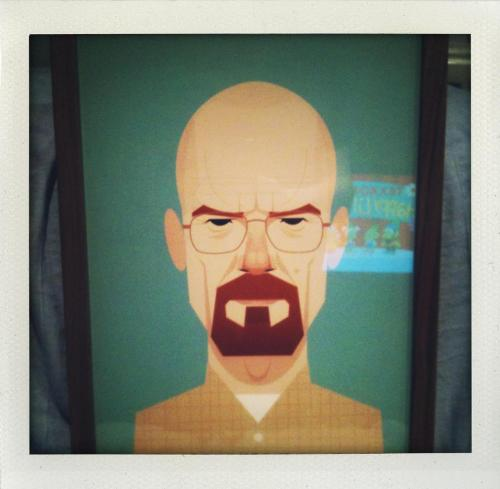 Breaking Bad fans will love this @stan_chow print of lead character Walter White. Buy it now at the link below. stanleychowprints:  A framed print of Walter White.. (Jonathan Paul Wickstead) Buy print at http://www.thestanleychowprintshop.com/product/bryan-cranston-as-walter-white