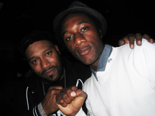 "A pic I took one night when we were kickin' it with Bun B ( @BunBTrillOG ) and @AloeBlacc on the eve of the release of Aloe's album ""Good Things"" on Stones Throw Records. Always dug this pic."