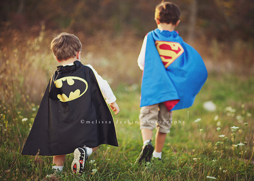 World's Finest indeed. aljoharahwaleed90:  .superhero brothers. by polkadotandplaid on Flickr.