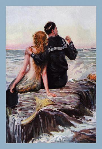One of my favourite mermaid paintings… But I can't seem to  find the artist's name anywhere!