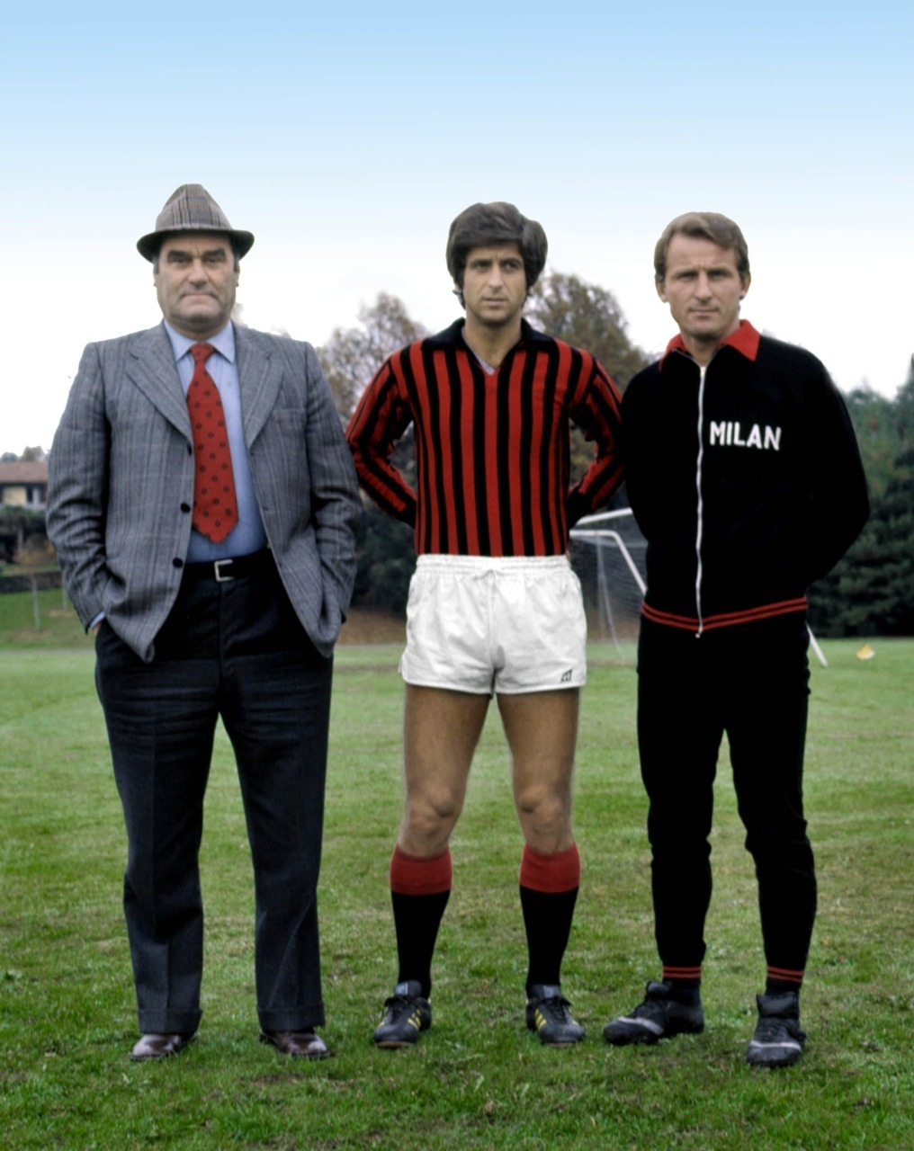 Rocco, Rivera and Trapattoni, probably early 1970s.