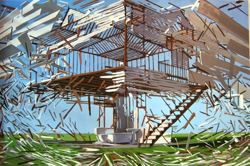 These intricately geometric works by Ben Grasso make me think of a slow-mo Michael Bay explosion, but in a cutesy pretty way.