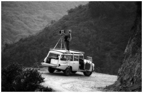 poler:  Adventuremobile, western landscape, 8x10 camera, and oh yeah, a rooftop shooting platform with a ladder. A stone-cold home run, that's what this is. #polerstuff