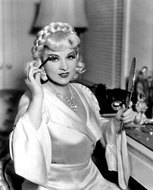 Ms. Mae West. The Briad+Lashes+Awesomeness… omgthatdress:  Mae West