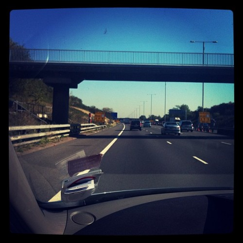 On my way to London to film the MADS (Taken with instagram)