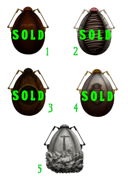 Faberge Eggs - Set 3Aristocratic Eggs$5.00 USD (5 Dollars)1. 2. 3. 4. 5.Information- There will be 50 eggs released.- These Faberge Eggs will be available for adoption, 5 at a time. - Each user may only purchase a limit of 5 eggs.- Purchasing an egg guarantees you a spot in beta-testing for 3rd Council.- The first 20 eggs do not allow any customization options. The first 20 eggs are random grab bags.- Once adopted, each egg will hatch within 7 days of purchasing.- The longer you wait, the rarer the chance of egg!How To PurchaseComment with the number egg you would like to purchase. You are only guaranteed this egg design and the stitchpunk within after payment has been made to rnbantiques@gmail.comEggs cannot be placed on hold.Any questions? Ask them in the comments!Follow 3rd Council's progress at [link]Art & Design (c) 3rd Council (c) Voicewriters Ink