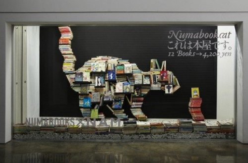 Numabookcat: A Mobile Pop-up Book Shop via Colossal