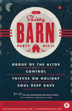 momentitus:  2011 Shitty Barn Party Poster (by EFG!)