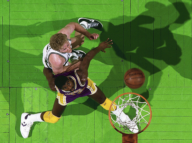 Larry Bird and Magic Johnson battle for position during Game 1 of the 1985 NBA Finals. (Manny Millan/SI) SI VAULT: Lakers finally beat Celtics and capture championship (6.17.85)SI VAULT: Larry and Magic were best of foes during 13-year rivalry (12.14.92)GALLERY: Larry Bird and Magic JohnsonGALLERY: Rare Photos of Larry BirdGALLERY: Magic Johnson: The College Years