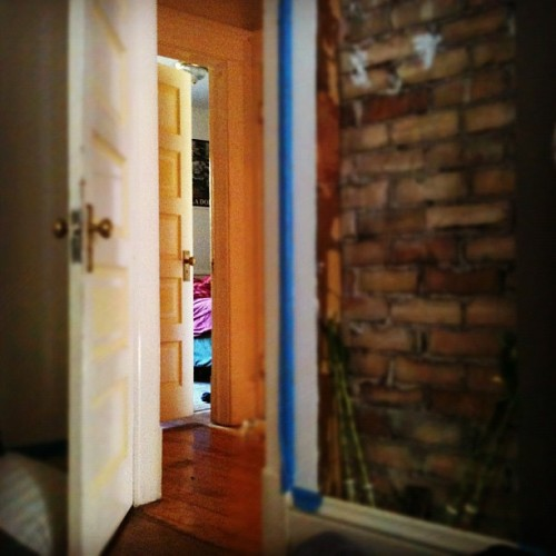 Bedroom is still half painted after a few weeks :# (Taken with Instagram at The last house on the right)