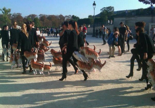 "Grazia Daily's ""catwalk"" in the Tuileries"