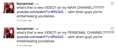 Lex is really excited about her new video.