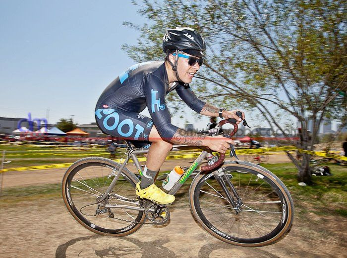 Raced the first race of the Southern California cyclocross season in Downtown L.A. a couple of weeks ago. This year I moved up to category B (cat 3/4) after two years of racing in the C's (cat 4). Really fast folks, but a lot more fun being challenged to keep up with them. I ended up coming in 22nd out of 57 riders. And yes, the ti IF was like riding a magic carpet over the bumpy course.