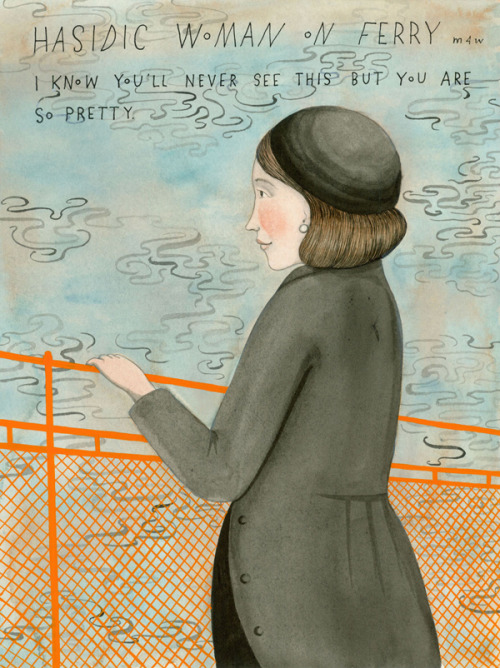 Sophie Blackall's very sweet and strange missed connections illustrations (based off of New York craigslist).