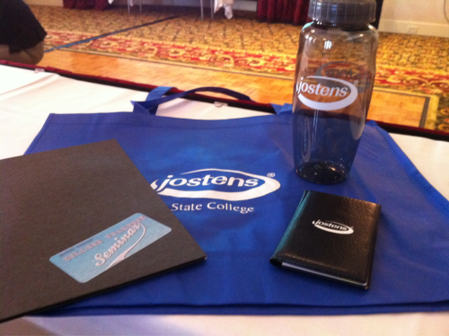 Awesome free stuff at Jostens' National College Yearbook Seminar in Providence! Looking forward to getting a lot of new ideas!