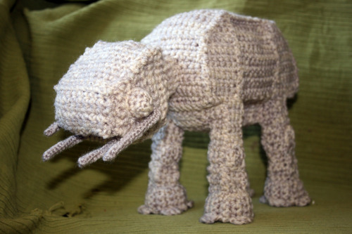 deviantart:  Crochet AT-AT by ~Soggy-Wolfie