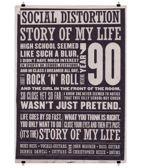 Story of my Life - Social Distortion by - vanth - on Flickr.