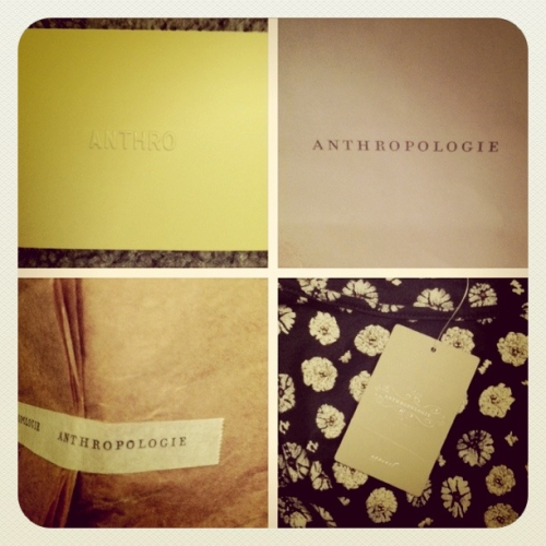First ever purchase from Anthropologie. :)