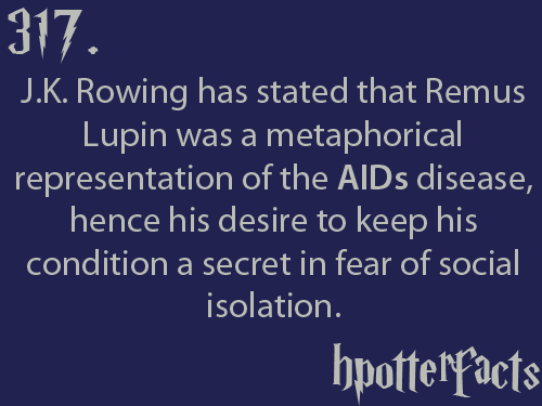 hpotterfacts:  *Rowling  New reason to love professor Lupin.